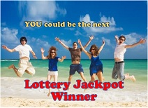 You could be the next lottery jackpot winner!